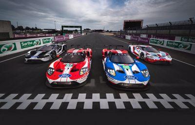 **5 Ford GT er klare for å kjempe om seieren i historisk Le Mans-løp**