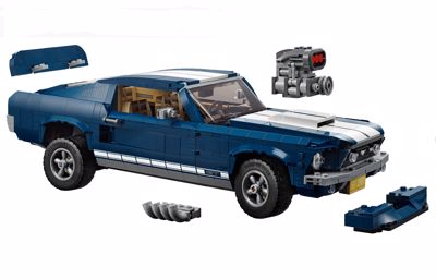Legendarisk Ford Mustang som eksklusivt LEGO-sett