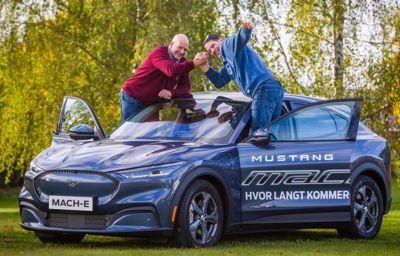 Rekkevidderekord: Nordmenn kjørte nye Mustang Mach-E 807,2 km uten å lade
