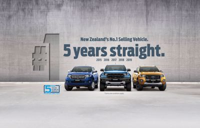 New Zealand's No.1 Selling Vehicle - 5 years straight