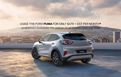 Lease The Ford Puma Base For Only $479.00 + GST per month*