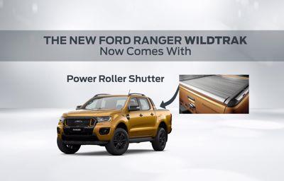 THE NEW FORD RANGER WILDTRAK WITH POWER ROLLER SHUTTER