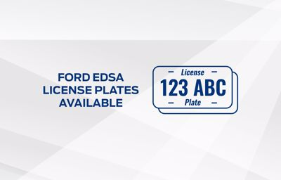 Ford EDSA Greenhills - Available Plate