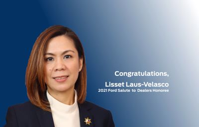 Ford Philippines Dealer Principal Lisset Laus-Velasco is 2021 Ford Salute to Dealers Honoree