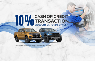 10% DISCOUNT ON FORD SERVICE AND PARTS