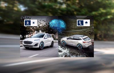 Sztuczna inteligencja hybrydowej Kugi pozwala kierowcy lepiej wykorzystać przyczepność kół i obniżyć koszty eksploatacji