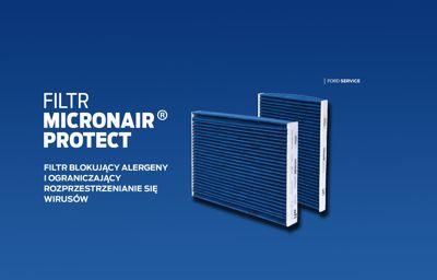Filtr Ford micronAir proTect  - skuteczna ochrona przeciw alergenom i wirusom