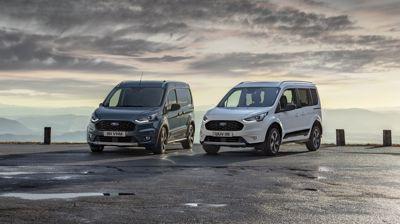 Nowy Ford Tourneo i Transit Connect Active w odświeżonym stylu, gotowe do przygód poza asfaltem.