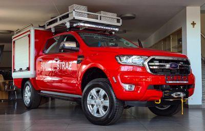 Frank-Cars z zabudowami dla Państwowej Straży Pożarnej