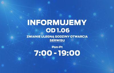 Informacja - nowe godziny serwisu Ford Gołębiewski