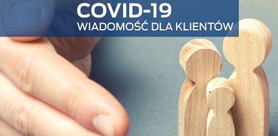 COVID-19 Wiadomość dla klientów