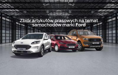 Zbiór artykułów prasowych na temat samochodów marki Ford