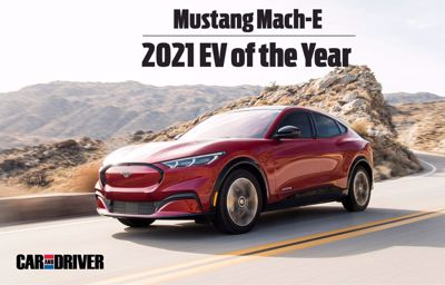 Mustang Mach-E zwycięzcą plebiscytu samochód elektryczny 2021 Magazynu Car and Driver