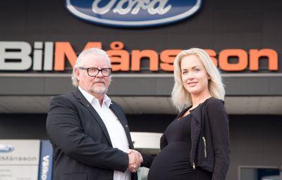 FordStore BilMånsson utmanar bilbranschen till ökad jämställdhet - Anställer höggravid kvinna