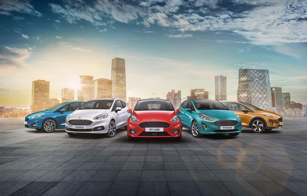 Den nya Ford Fiesta Trend Titanium, ST-line och Vignale
