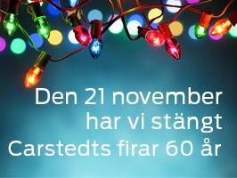 Lördagen den 21 november har vi stängt