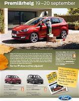 Helgen 19 – 20 september är du välkomna att uppleva höstens stora nyheter från Ford.