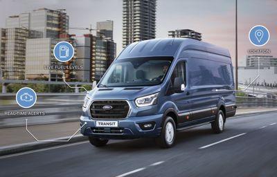 Ford presenterar en elektrisk, uppkopplad framtid för bästsäljande transportbilar