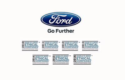 Ford enda biltillverkaren bland världens mest etiska företag