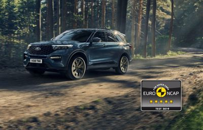 Nya Ford Explorer Plug-In Hybrid får högsta betyg av Euro NCAP