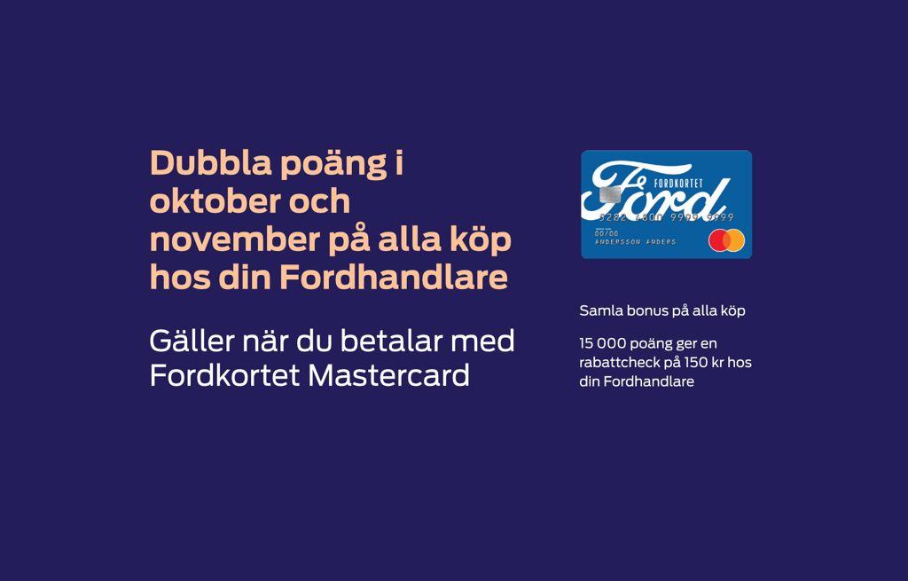 Samla värdefulla poäng med Fordkortet