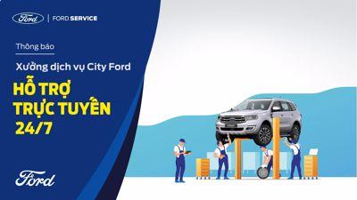 Thông tin hoạt động của xưởng dịch vụ City Ford
