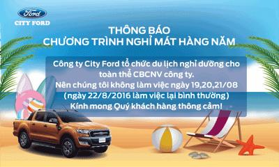 THÔNG BÁO NGHỈ MÁT - COMPANY TRIP