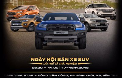 """Chương trình lái thử xe """"FORD - HÀNH TRÌNH TRẢI NGHIỆM""""  tại Bến Tre"""