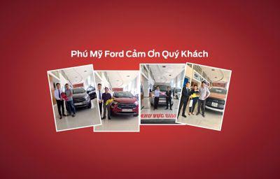 Khách hàng nhận xe Ford Tháng 11 tại Phú Mỹ Ford