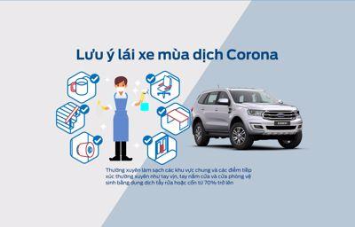 Lưu ý lái xe mùa dịch Corona cùng Phú Mỹ Ford