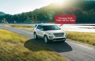 Thông báo: Chương trình triệu hồi an toàn - Thay thế tay đòn liên kết hệ thống treo sau trên xe Ford Explorer