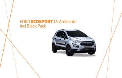 Ford Ecosport 1.5 Ambiente A incl Black Pack