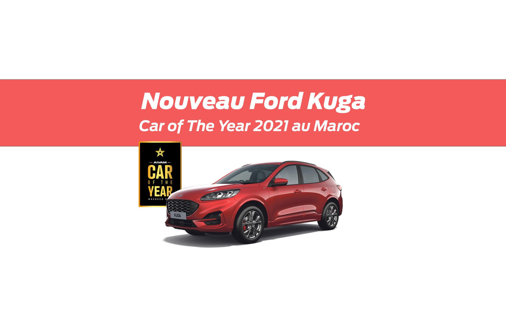 Le Nouveau Ford Kuga élu « Car of the Year 2021 » au Maroc