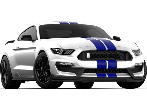 Oxford White Kona Blue Racing Stripe
