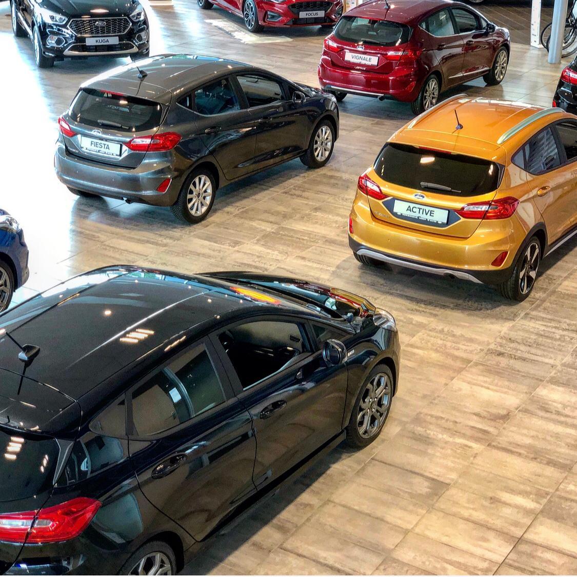 Ford Fiesta in showroom