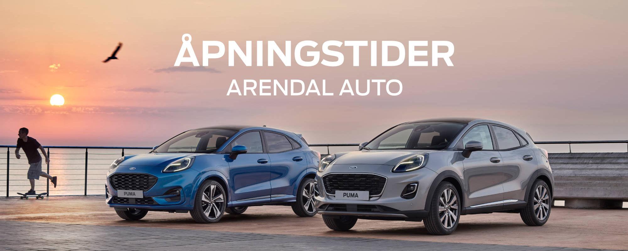 Åpningstider Ford Arendal - Focus Puma