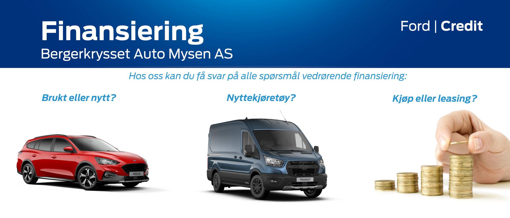 Finansiering - Bergerkrysset Auto Mysen AS