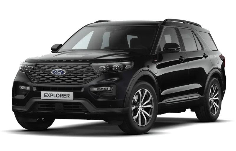 Rød Ford Explorer Kampanje
