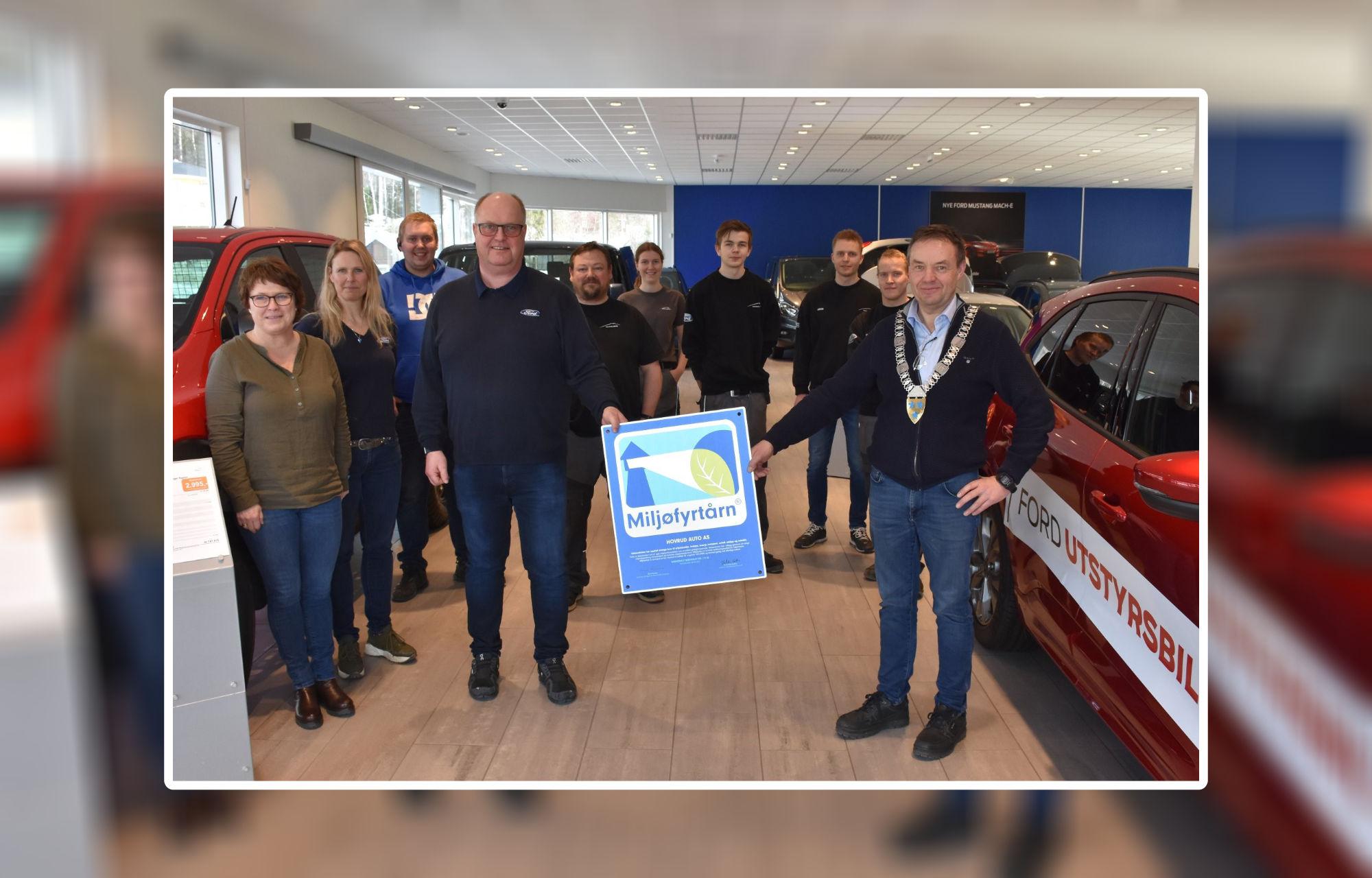Hovrud Auto har blitt en Miljøfyrtårn godkjent bedrift