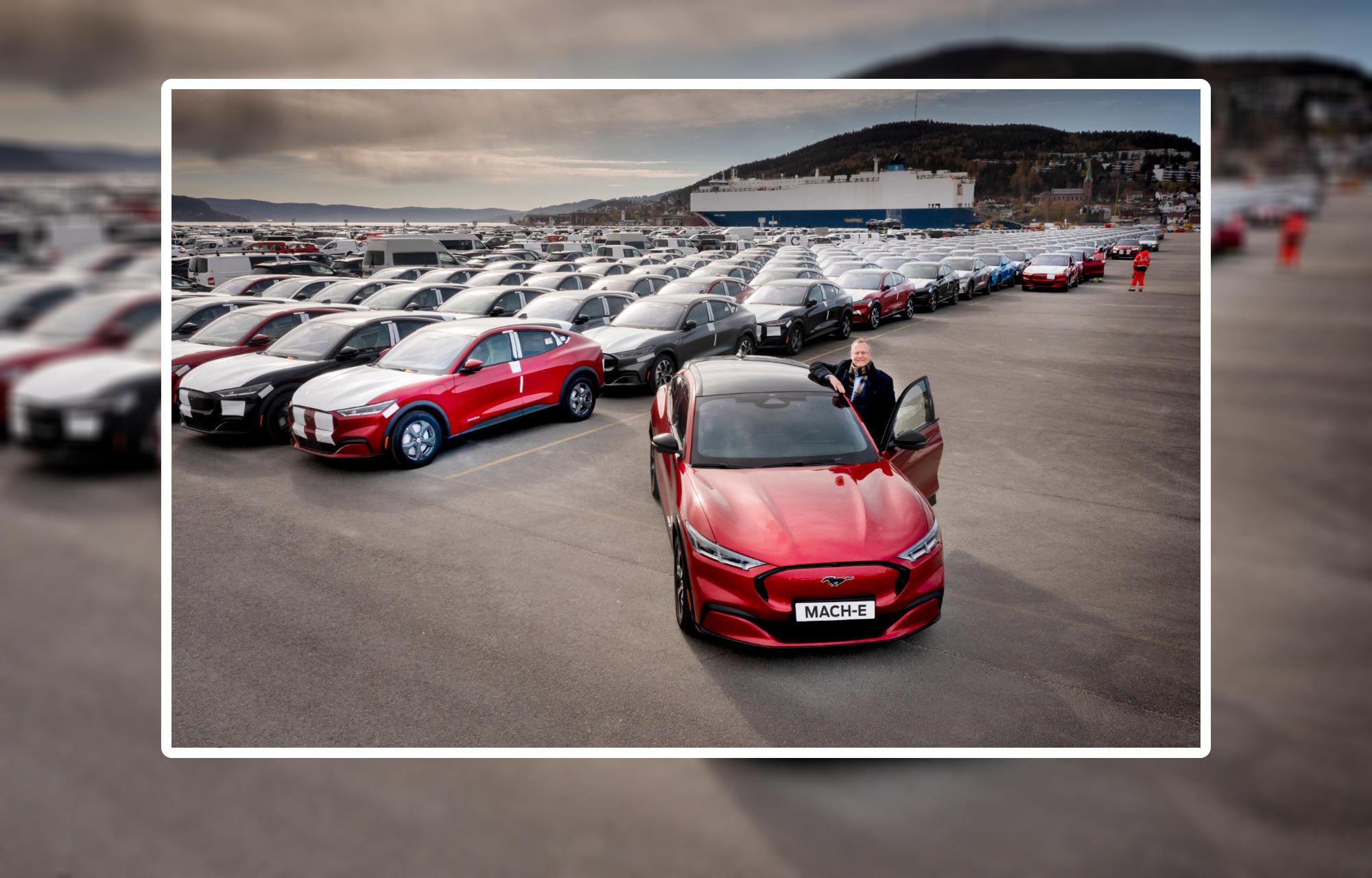 Her kommer de første kundesolgte Mustang Mach-E til Norge