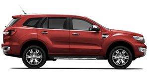 ford everest, sunset red
