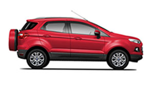 ford ecosport, candy red
