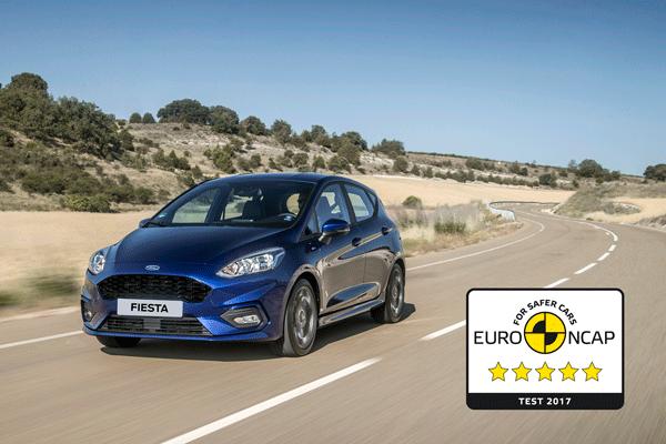 Nowy Ford Fiesta zdobywa 5-gwiazdek w testach EURO NCAP
